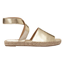 Buy Mint Velvet Sue Cross Strap Sandals, Gold Online at johnlewis.com