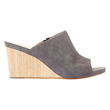Buy Mint Velvet Lohan Peep Toe Mule Sandals, Dark Grey Online at johnlewis.com