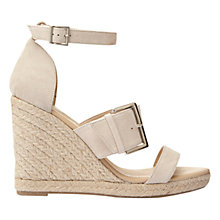 Buy Mint Velvet Olive Wedge Heeled Sandals, Natural Online at johnlewis.com