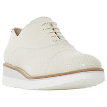 Buy Dune Furley Lace Up Flatform Brogues, Beige Snake Online at johnlewis.com