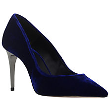 Buy Carvela Android High Heel Court Shoes, Blue Velvet Online at johnlewis.com