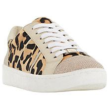 Buy Dune Egypt Lace Up Trainers, Leopard Online at johnlewis.com