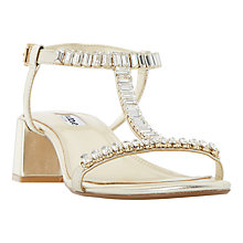 Buy Dune Malie Embellished Block Heeled Sandals Online at johnlewis.com