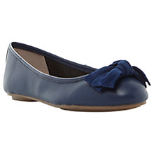 Buy Dune Hypnotise Bow Ballet Pumps, Navy Online at johnlewis.com