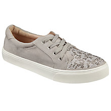Buy John Lewis Sierra Embellished Trainers, Grey Online at johnlewis.com