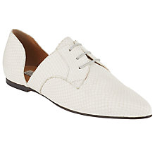 Buy Somerset by Alice Temperley Fiddington Cut Out Brogues, Cream Online at johnlewis.com