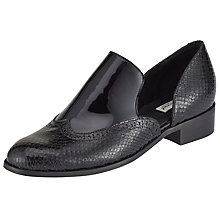Buy Somerset by Alice Temperley Greinton Cut Out Brogues, Black Online at johnlewis.com