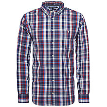 Buy Tommy Hilfiger Nicky Check Cotton Shirt, Indigo/Apple Red Online at johnlewis.com