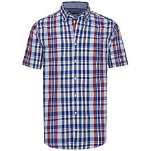 Buy Tommy Hilfiger Lester Check Short Sleeve Shirt, Blue/Apple Red/Multi Online at johnlewis.com
