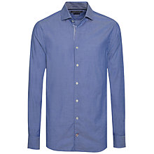 Buy Tommy Hilfiger Contrast Button Stitch Cotton Shirt, Nautical Blue Online at johnlewis.com
