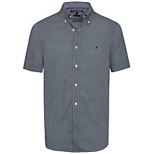 Buy Tommy Hilfiger Mini Square Print Short Sleeve Shirt, Blue/Classic White Online at johnlewis.com