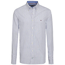 Buy Tommy Hilfiger Falco Stripe Cotton Shirt, White Online at johnlewis.com