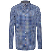 Buy Tommy Hilfiger Fred Check Cotton Shirt, Dutch Navy/Royal Blue Online at johnlewis.com