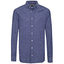 Buy Tommy Hilfiger Tisbury Micro Floral Print Shirt, Dutch Navy/Royal Online at johnlewis.com