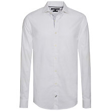 Buy Tommy Hilfiger Modern Washed Cotton Oxford Shirt, Classic White Online at johnlewis.com