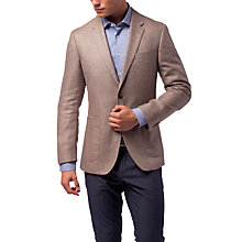 Buy Tommy Hilfiger Silk Linen Fitted Blazer, Stone Online at johnlewis.com