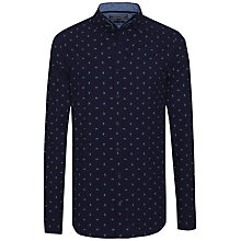 Buy Tommy Hilfiger Small Spaced Paisley Print Shirt, Indigo/ Multi Online at johnlewis.com