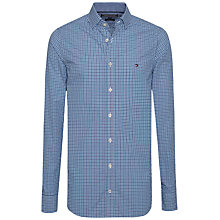 Buy Tommy Hilfiger Lukas Check Slim Fit Shirt, Bluejay/Sapphire Online at johnlewis.com