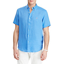Buy Polo Ralph Lauren Short Sleeve Slim Fit Button-Down Point Collar Shirt Online at johnlewis.com