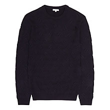 Buy Reiss Astro Patterned Weave Jumper, Navy Online at johnlewis.com