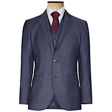 Buy Hackett London Italian Sharkskin Wool Suit Jacket, Airforce Blue Online at johnlewis.com