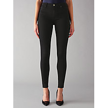 Buy 7 For All Mankind High Waist Skinny Slim Illusion Luxe Jeans, Black Online at johnlewis.com
