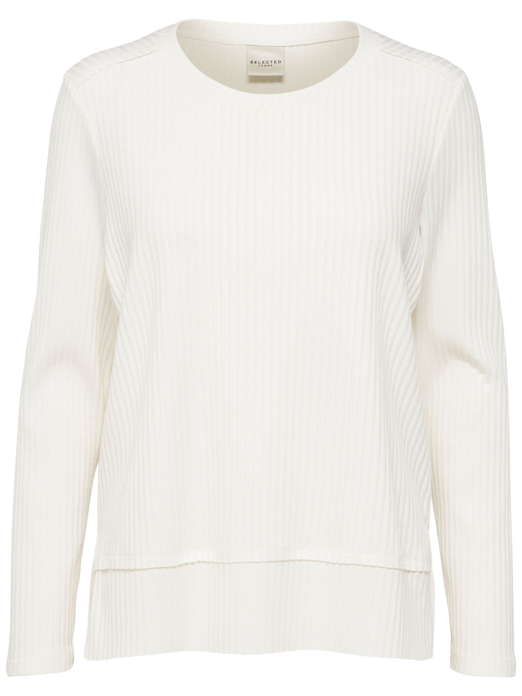 Selected Femme Selected Femme Darla Knitted Top, Snow White