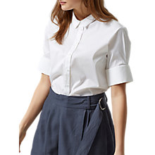 Buy Selected Femme Venilla Short Sleeve Shirt, White Online at johnlewis.com
