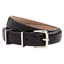 Buy Hobbs Katie Leather Belt, Snake Black Online at johnlewis.com