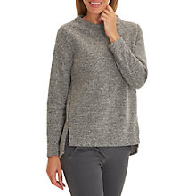 Buy Betty & Co. Stretch Tweed Top, Black/Grey Online at johnlewis.com