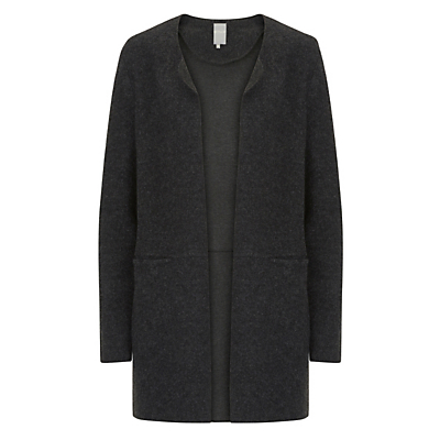 Betty & Co. Boiled Wool Cardigan, Black/Grey