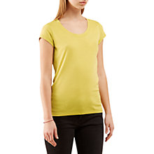 Buy Jigsaw Pima Cotton Short Sleeve T-Shirt, Citron Online at johnlewis.com