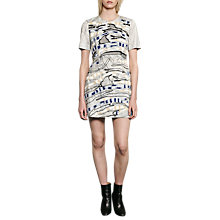 Buy French Connection Derrain Stitch Dress, Mineral Grey/Multi Online at johnlewis.com