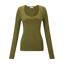 Buy Jigsaw Double Front Scoop T-Shirt Online at johnlewis.com