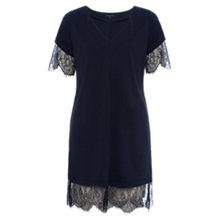 Buy French Connection Swift Tunic Dress, Utility Black/Black Online at johnlewis.com