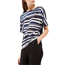 Buy Jigsaw Broken Stripe Silk Front Top Online at johnlewis.com