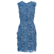 Buy French Connection Manzoni Lace Dress, Meru Blue Online at johnlewis.com