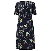 Buy Jigsaw Floating Aster Tea Dress, Dark Navy Online at johnlewis.com