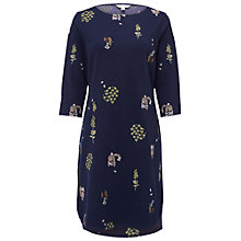 Buy White Stuff Flora Embellished Dress, Wallpaper Blue Online at johnlewis.com