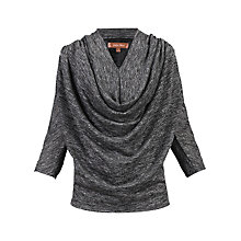 Buy Jolie Moi Glitter Batwing Top, Black Online at johnlewis.com