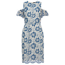 Buy French Connection Antonia Cold Shoulder Dress, Meru Blue Online at johnlewis.com