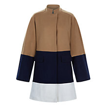 Buy Hobbs Antonia Coat, Navy/Camel Online at johnlewis.com