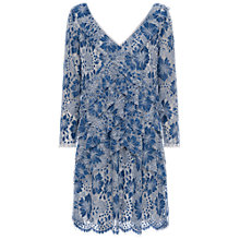 Buy French Connection Antonia Lace Dress, Meru Blue Online at johnlewis.com
