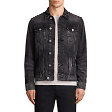Buy AllSaints Tocander Denim Jacket, Washed Black Online at johnlewis.com