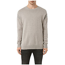 Buy AllSaints Lochrin Crew Jumper, Taupe Marl/Grey Marl Online at johnlewis.com