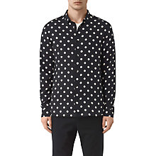 Buy AllSaints Rolla Polka Dot Print Slim Shirt Online at johnlewis.com