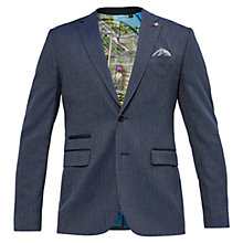 Buy Ted Baker Wingit Mini Design Modern Fit Blazer, Bright Blue Online at johnlewis.com