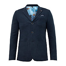 Buy Ted Baker Porter Deconstructed Blazer, Navy Online at johnlewis.com