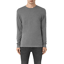 Buy AllSaints Cedarn Long Sleeve Crew Neck T-Shirt, Charcoal Marl Online at johnlewis.com