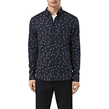 Buy AllSaints Renovo Abstract Print Slim Shirt, Dark Ink Online at johnlewis.com